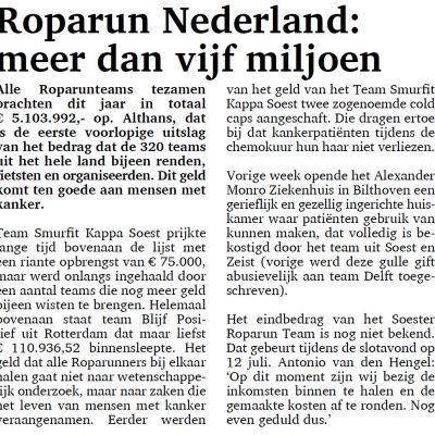 Roparun Nederland: meer dan vijf miljoen
