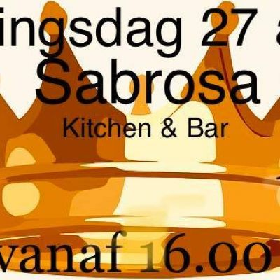 Sabrosa is Koningsdag open!!