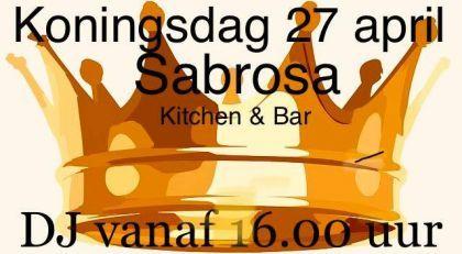 Sabrosa is Koningsdag open!!