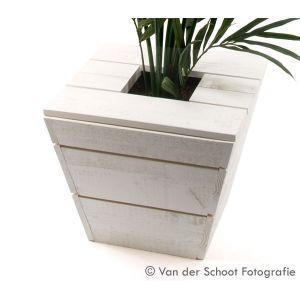 Plantenbak Industrial white