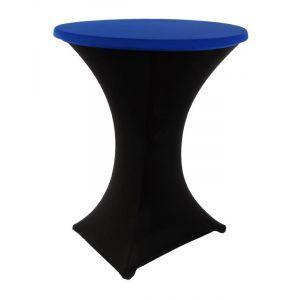 Statafelrok stretch, zwart/blauw