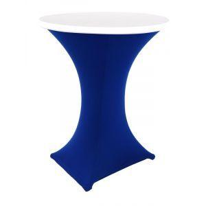 Statafelrok stretch, blauw/wit