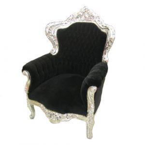 Barok fauteuil zwart