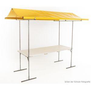 Marktkraam geel 200x80 cm.