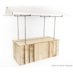 Marktkraam steigerhout wit 200x80 cm.