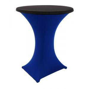 Statafelrok stretch, blauw/zwart