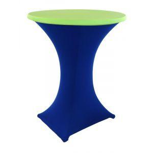 Statafelrok stretch, blauw/limoen