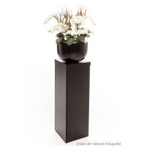 Sokkel Ventura 35x35x(h)108 cm. met orchideeen