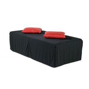 Loungebank zwart 200x100x(h)40 cm.