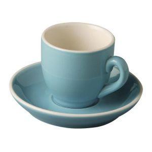 Koffiekop & schotel 14 cl. blauw