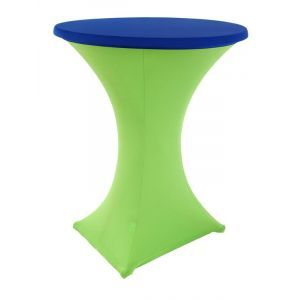 Statafelrok stretch, limoen/blauw