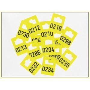 Garderobenummers pvc 125 stuks (2x)