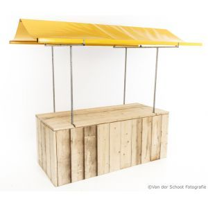 Marktkraam steigerhout geel 200x80 cm.