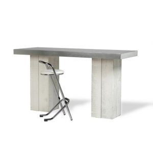 Statafel Industrial White 180x80x(h)110 cm