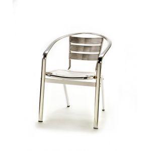 Aluminium stoel, stapelbaar