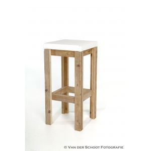 Barkruk Pure wood (incl. witte zitting)