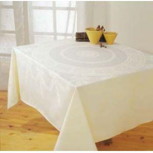 Tafellaken 130x130 cm. vanille