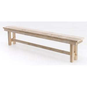 Bank Pure wood 220x25 cm. 4 pers.