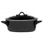 Ovenschaal ovaal zwart 22,5x17,5x8 cm.-1,5 ltr (incl. deksel) huren? Van der Schoot Partyverhuur - snel en voordelig bezorgd!