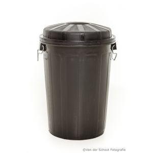 Afvalbak p.v.c. zwart (incl. vuilniszak)
