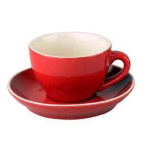 Cappuccino kop & schotel 18 cl. rood