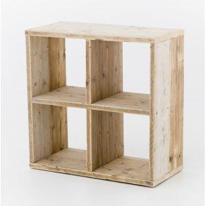 Presentatiemeubel steigerhout