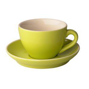 Cappuccino kop & schotel 18 cl. lime