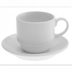 Koffiekop & schotel Wit 20 cl. huren? Van der Schoot Partyverhuur - snel en vloordelig bezorgd!