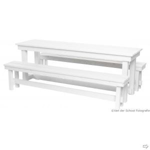 Picknickset Industrial white (l)220 cm (excl. kussens)