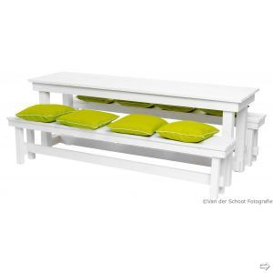 Picknickset Industrial white (l)220 cm. (incl. 8 kussens)