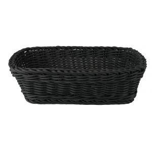 Rieten mand kunststof zwart 31x21x(h)9 cm