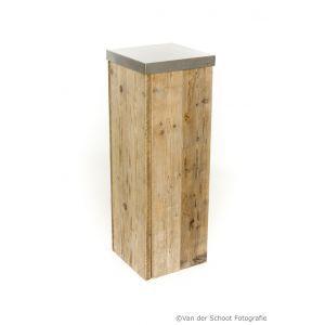 Sokkel Pure Wood 35x35x(h)108 cm.
