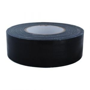 Ductape zwart 50mm.x50 mtr.