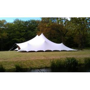 Stretchtent 10x11 mtr. wit (excl. vloer)
