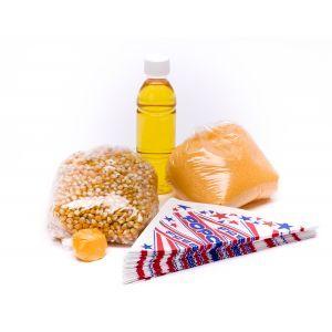 Popcorn grondstoffen zoet en zout