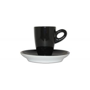 Espressokop & schotel bruin