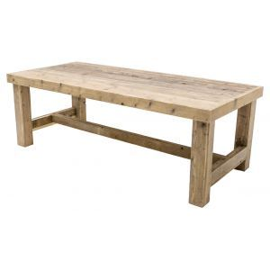Diner tafel Pure Wood 220x100(h)75 cm.