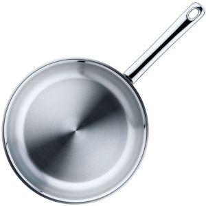 Inductie koekenpan rvs (Ø)24x(h)4,5 cm.