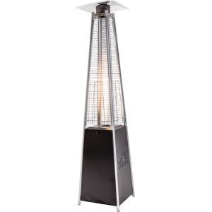 Flame heater zwart (incl. volle gasfles)
