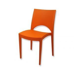 Stoel Parijs kunststof oranje