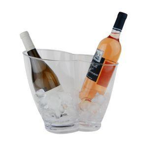 Wijnkoeler transparant kunststof 31x22x(h)26 cm.