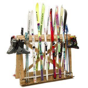 Après-ski rek (incl. ski's. stokken en schoenen)