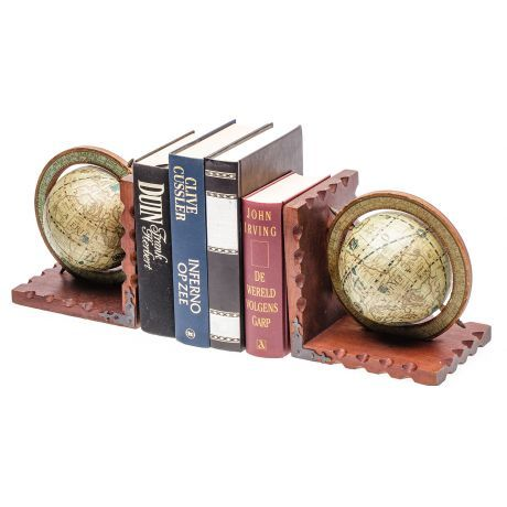 Boekenhouderset wereldbol incl. 3 boeken huren? Van der Schoot Partyverhuur - snel en voordelig bezorgd!