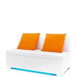 Loungebank Milano LED 160x80x(h)50 cm. (incl. rugleuning)