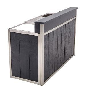 Bar Industrial Grey 171X73X(h)120 cm. (incl. spoel.& lekb.)