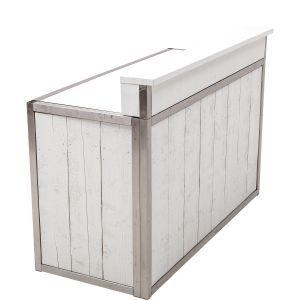 Bar Industrial white 171x73x(h)110 cm. (excl. tap, spoelbak en lekblad) .