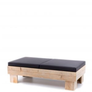Loungebank Pure Wood 160x80x(h)50 cm.
