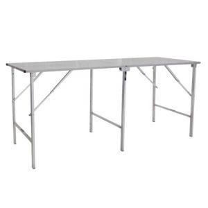 Werktafel RVS inklapbaar 200x80x(h)90 cm.