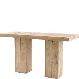 Statafel Pure Wood 200x80x(h)110 cm.