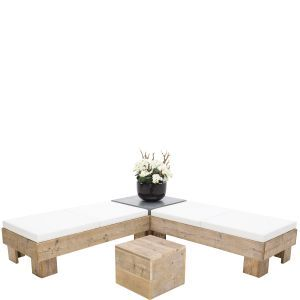 Loungeset Pure Wood wit (incl. orchidee)
